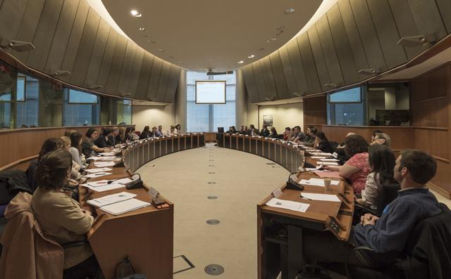 Un momento de la presentación en el Parlamento Europeo.