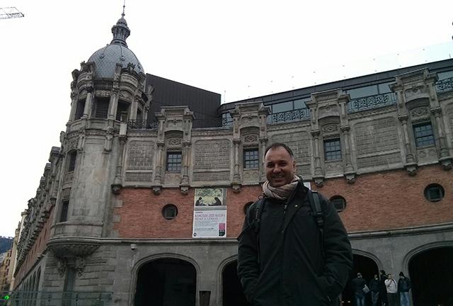 Marco Aurèlio Alves, Director de Amigos na Cultura, durante su visita a Bilbao.
