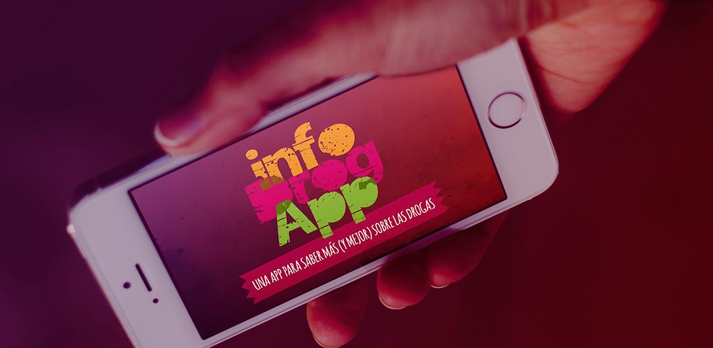 Página de inicio de la app de información sobre drogas para adolescentes